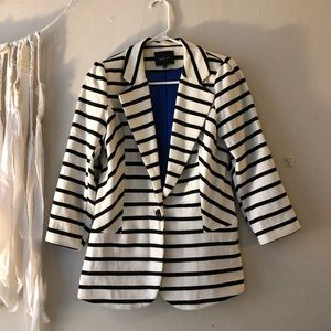 B&W Striped Blazer